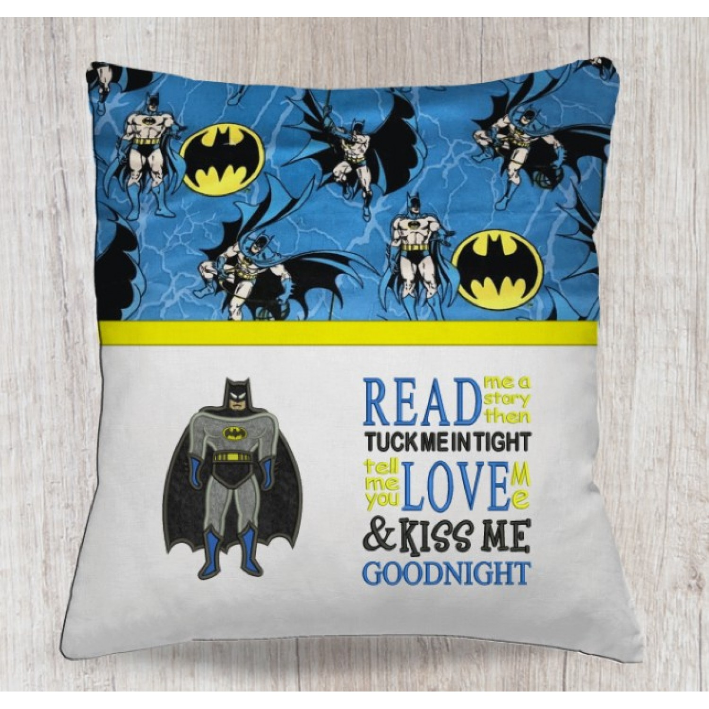 batman applique with read me a story