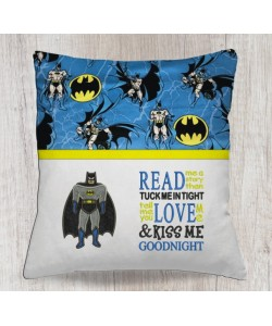 batman applique with read me a story