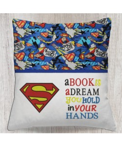 Superman logo with a book is a dream