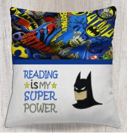 batman face with Reading is My Superpower