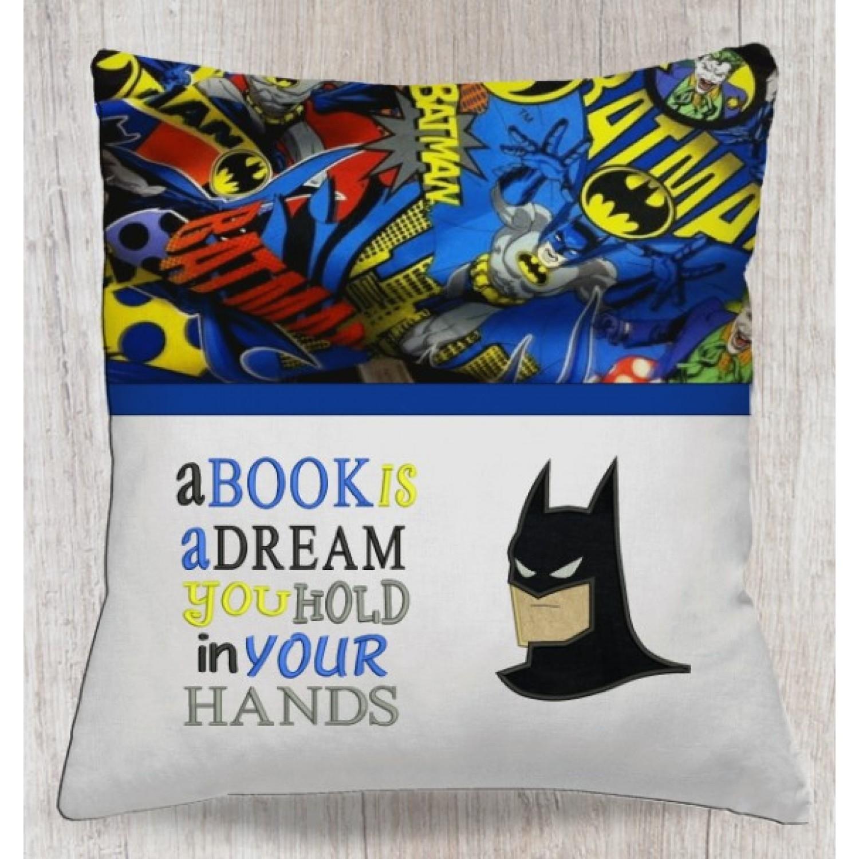 batman face with a book is a dream