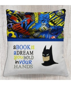 batman face with a book is a dream