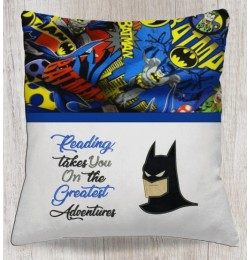 batman face with reading takes you