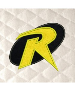 robin logo applique