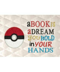 pokeball pokemon with a book is a dream