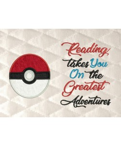 pokeball pokemon with reading takes you