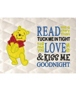 pooh applique with read me a story