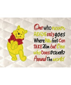 pooh applique with One who never reads