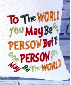 To The World Embroidery