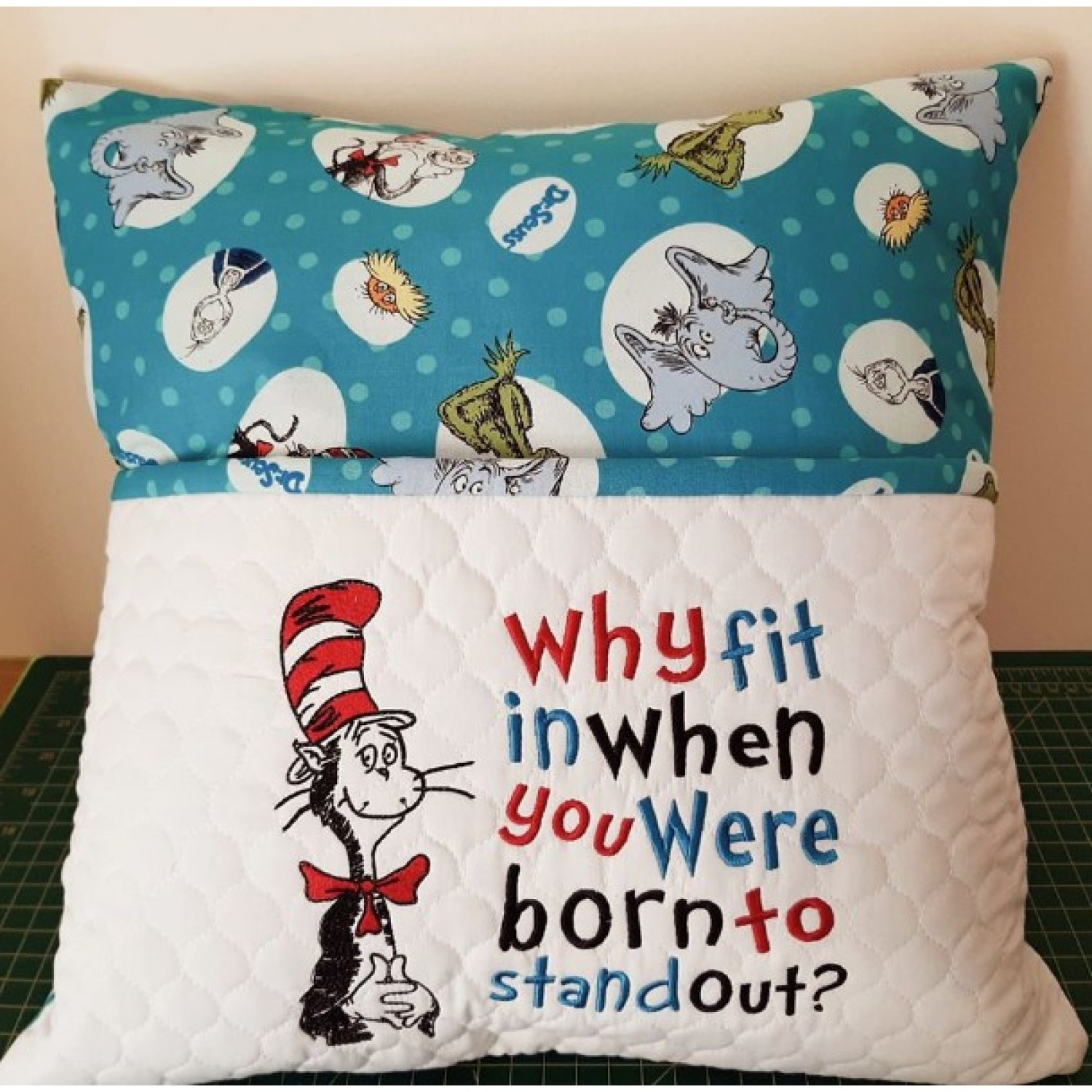 Dr. Seuss embroidery with why fit