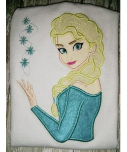 Elsa Frozen applique design