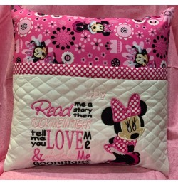 minnie mouse with read me a story reading pillow