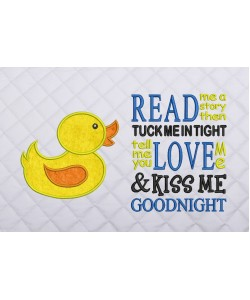 baby duck applique with read me a story