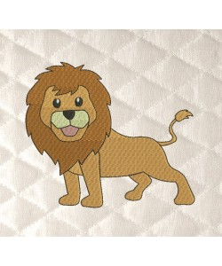 lion embroidery