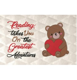 Bear Valentines Day with reading takes you