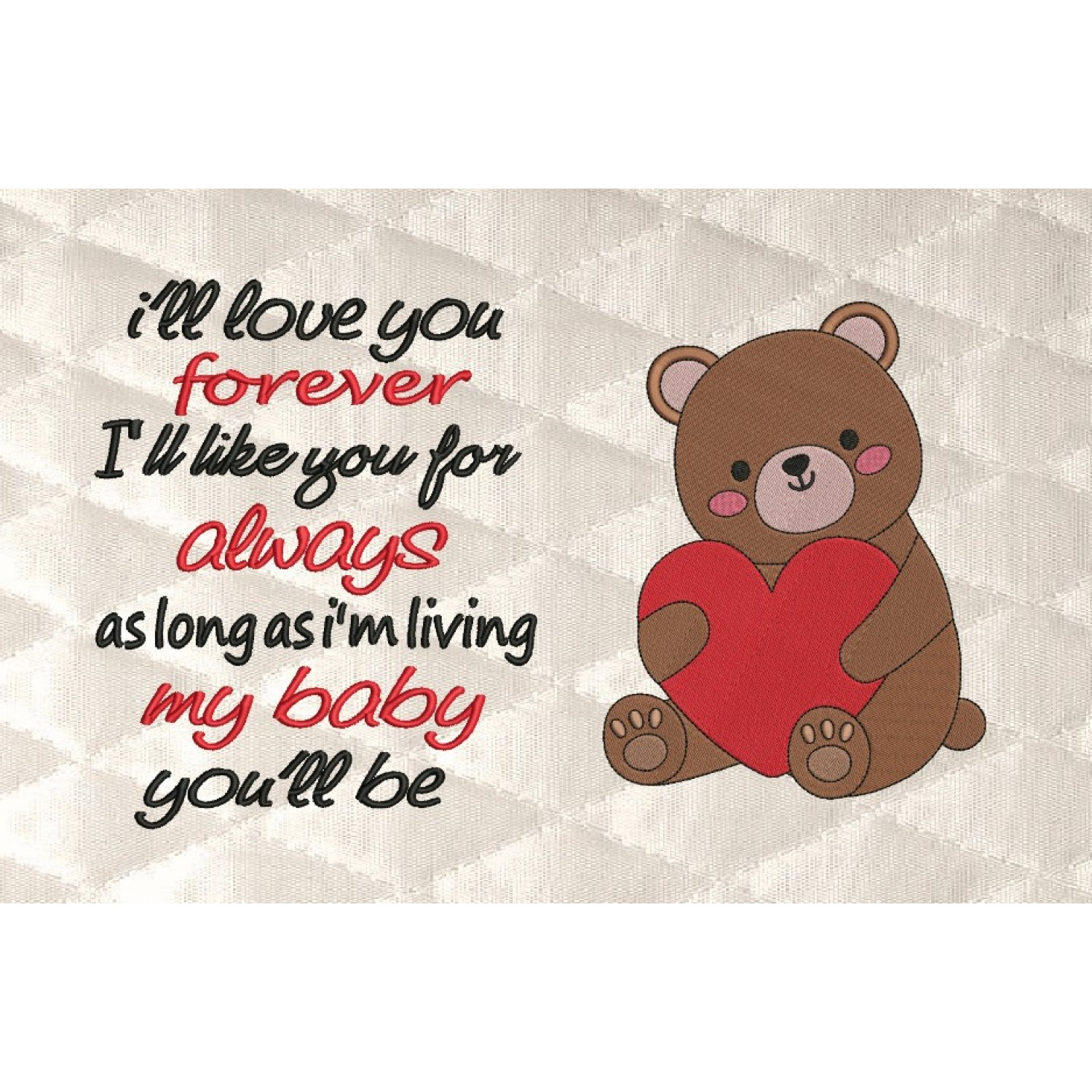 Bear Valentines Day with I'll love you forever