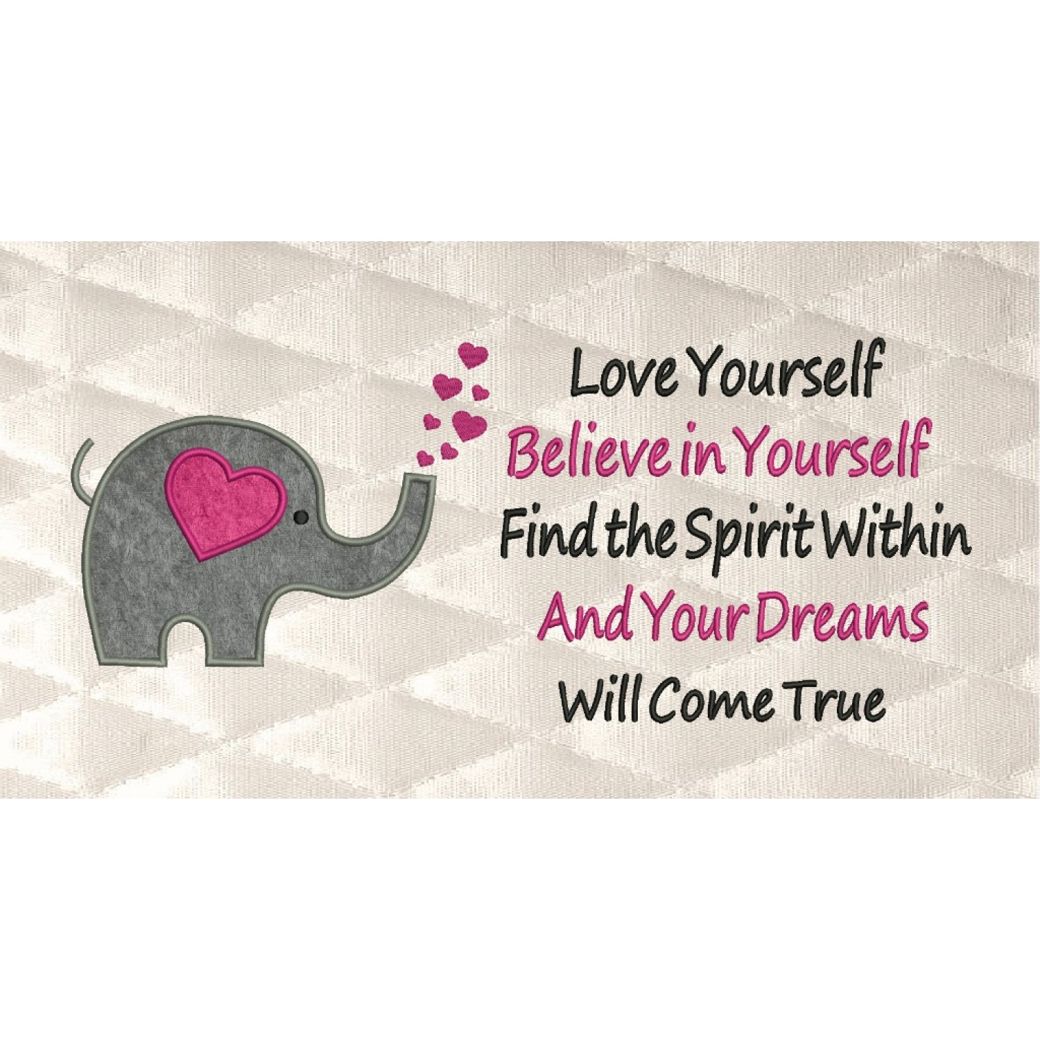 Elephant Hearts with Love yourself