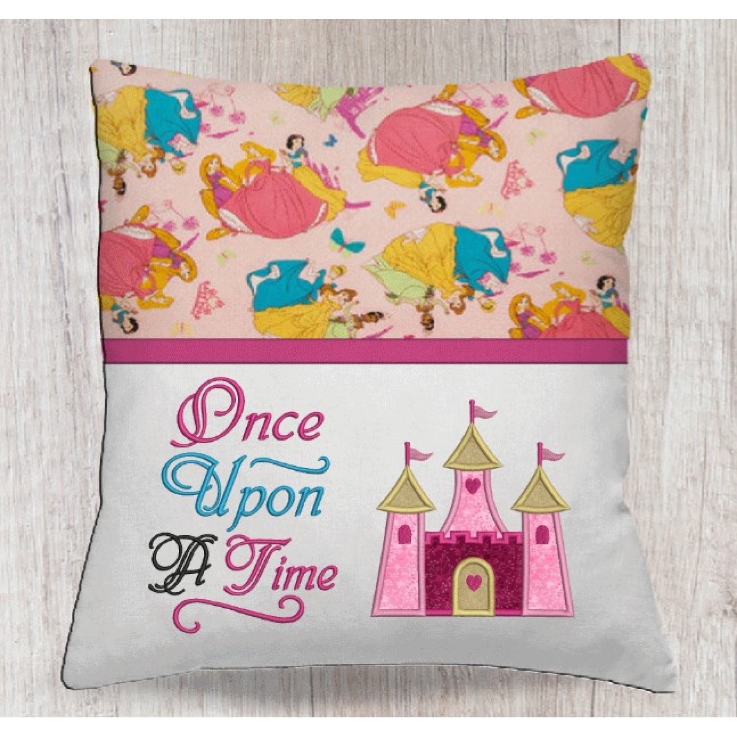 Castle princess with once upon designs