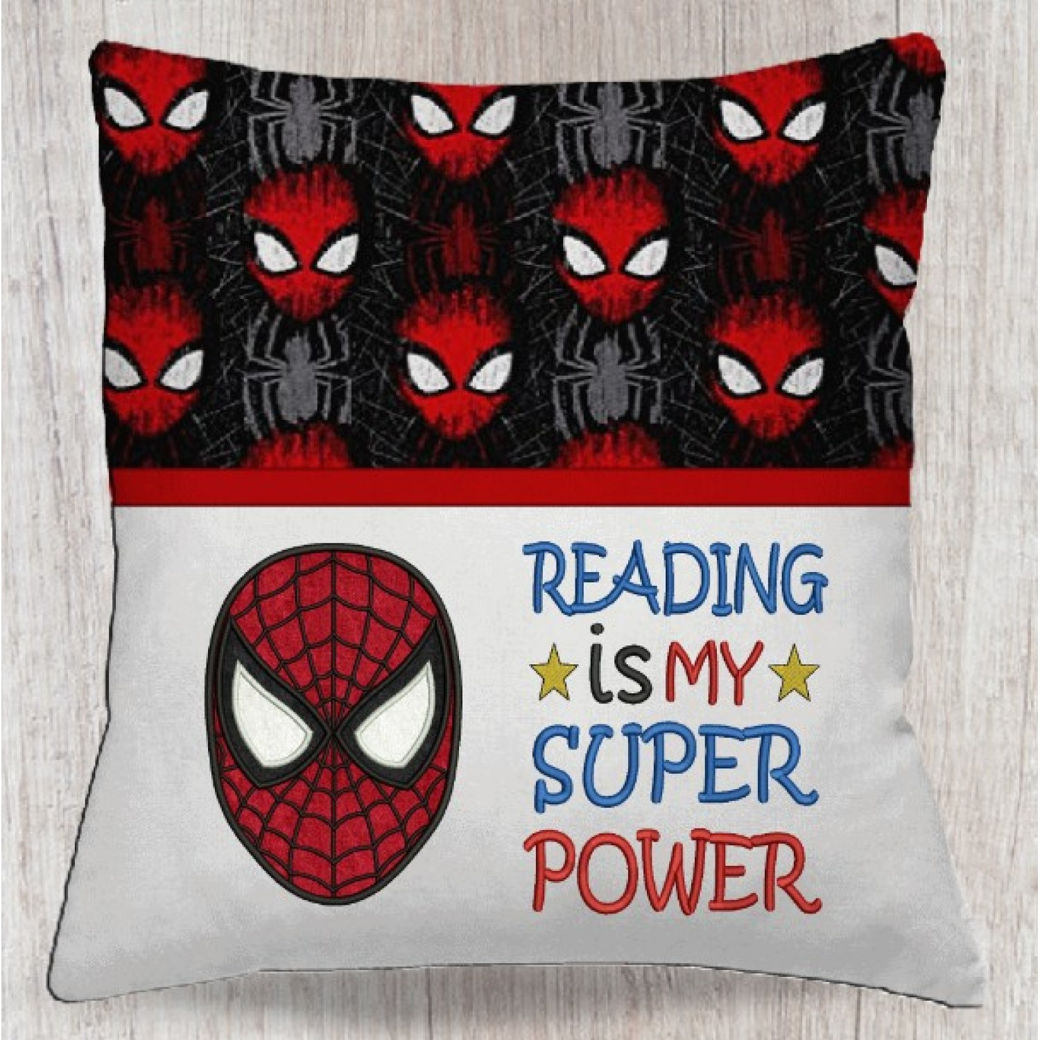 Spiderman face with Reading is My Super power