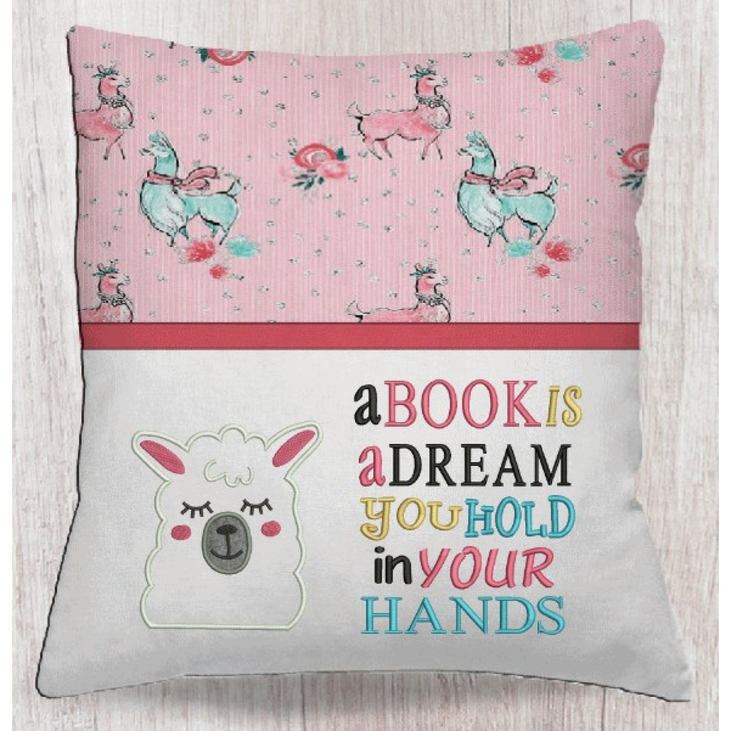 llama face with a book is a dream