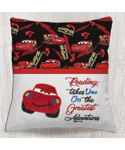 McQueen with reading takes you embroidery