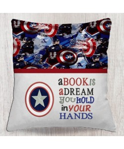captain america with a book is a dream reading pillow