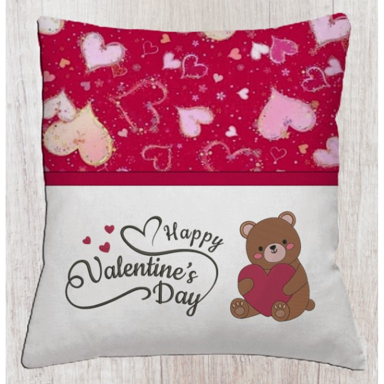 Bear Valentines Day with happy valentine's day