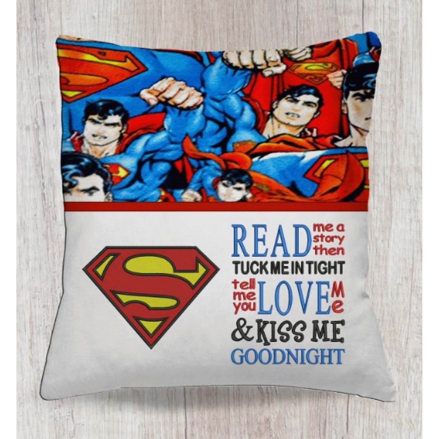Superman logo with read me a story