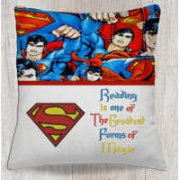 Superman logo with reading is one
