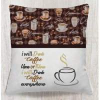 Cup coffee with i will drink coffee embroidery designs