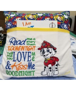 Marshal dog read me a story designs embroidery