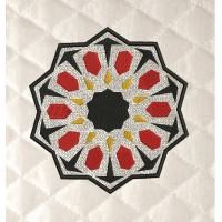 Moroccan tiles in the hoop