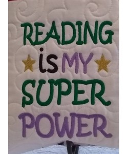 Reading is My Super power Machine Embroidery