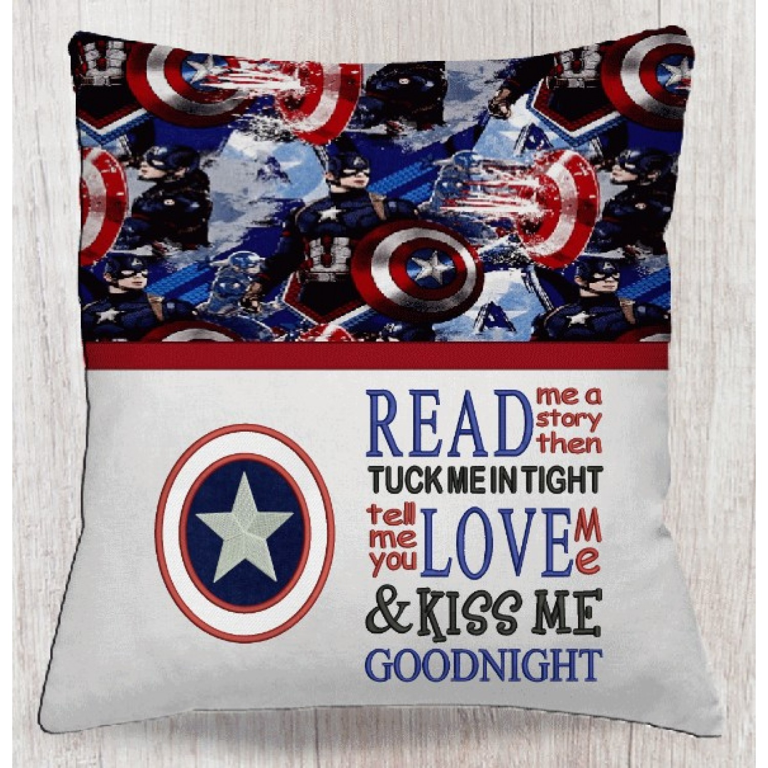 captain america with read me a story