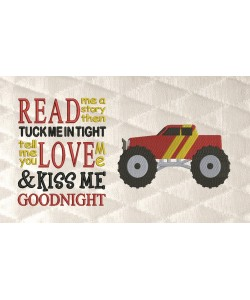 monster truck with read me a story