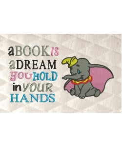 Dumbo with a book is a dream