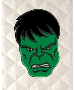 Hulk Face applique
