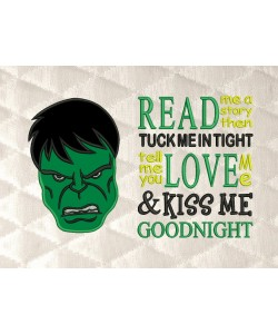 Hulk face with read me a story