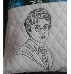 Harry potter line embroidery