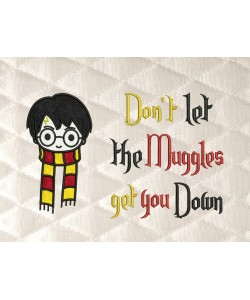 Harry potter face scarf with don't let