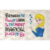 Elsa Frozen applique with Between the Pages