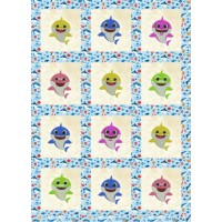 baby shark family quilt embroidery designs