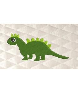 Dinosaur reg embroidery