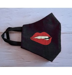 Face Mask Lips Embroidery Design For adult ITH in the hoop
