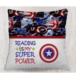 Captain america with reading is my super power