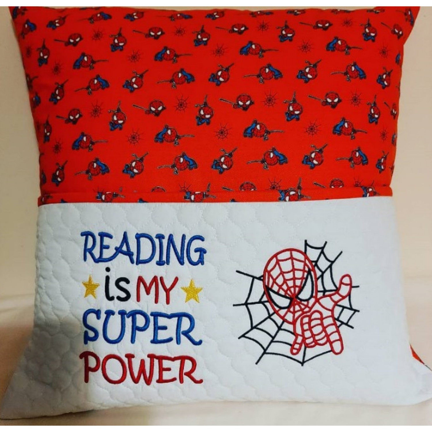 spiderman with Reading is My Super power