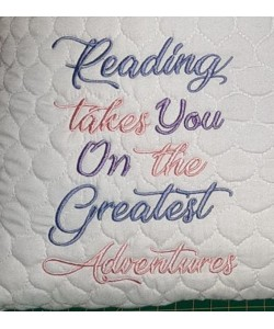 reading takes you design embroidery
