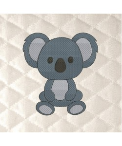 Koala embroidery