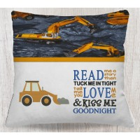 digger embroidery with read me a story designs