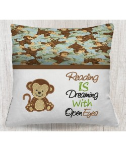 baby monkey with reading is dreaming designs